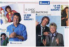 PUBLICITE ADVERTISING 104 1987 radio EUROPE 1 (2p) S Collaro Gildas Maryse