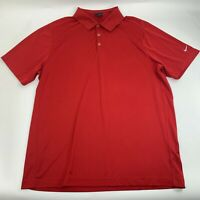 Nike Golf Mens Polo Shirt Size 2XL Red Short Sleeve Casual Performance Knit
