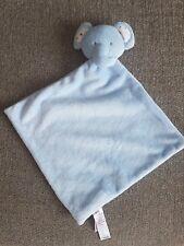 Asda George Blue Elephant Star Ear Teddy Baby Comforter Comfort Blanket Soft Toy