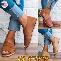 Women New Gladiator Sandals Summer Beach Flat Slip On Open Toe Shoes Flip Flops