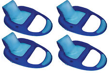 SwimWays Spring Float Recliner XL Floating Swimming Pool Lounge Chair (4 Pack)