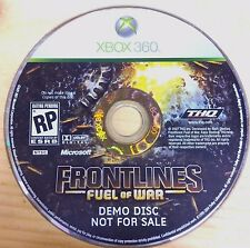 Frontline's fuel of War demo disc Xbox 360 DISC 1 ONLY (NO CASE) #10350