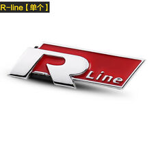 R-Line CAR Emblem Sticker Metal Red Logo Replacement characters 70 x 25mm GT