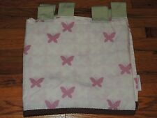 SET OF 2 COCALO BUTTERFLY VALANCES PINK BROWN GREEN TAB TOP BUTTERFLIES