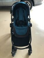 Baby Jogger City Select Stroller Teal on Black Frame.  Used Very