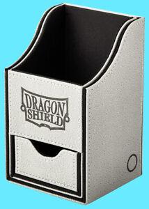 DRAGON SHIELD NEST PLUS 100 LIGHT GREY / BLACK CARD STORAGE BOX compartment case