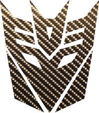 Carbón d de 5 DECEPTICON de Transformers 2 x Pegatina sticker emblema 100x110mm