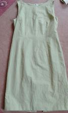 2-teilig Kleid Etuikleid Windsor L 42 Baumwolle Seide grün Jacke Blazer Kostüm