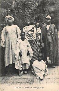 DAKAR, SENEGAL, AFRICA ~ FAMILY MEMBERS - MAN, WOMEN & CHILDREN ~ 1907-20