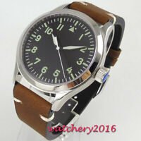 42mm Corgeut Sterile dial watch Luminous Sapphire Glass Automatic Mens Watch