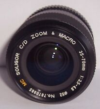 MC SOLIGOR C/D ZOOM+MACRO F=35-70MM 1:3.5-4.8 LENS PK