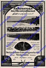 NSU-Werke CAMION AUTO MOTO BICICLETTA MILITARE Turchia ottomano Neckar Sulm 1911-1916
