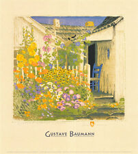 Grandma Battin's Garden Art Poster Print by Gustave Baumann, 18x20
