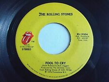 The Rolling Stones Fool To Cry / Hot Stuff 45 1976 Vinyl Record