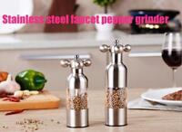 Stainless Steel Adjustable Pepper Hand Grinder Manual Pepper Mill Salt Grinder