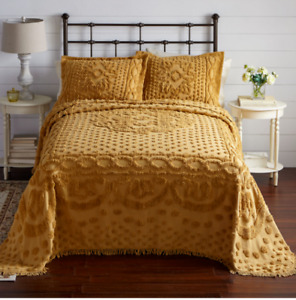 Chenille Bedspread and Matching Shams - 6 Gorgeous Colors - King, Queen, Twin