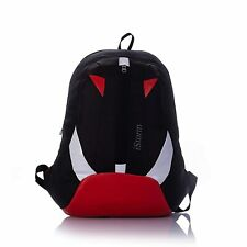 Indian Made Red And Black Color Light Weight Casual School College Backpack Bag