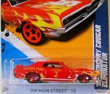 2012 Hot Wheels HW MAIN STREET #168 ∞ 69 MERCURY COUGAR ELIMINATOR ∞ CRANSTON FD