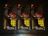 Lot of 3 Nerf Rival Magazines with 134 High-Impact Rounds, Large Refill Bundle