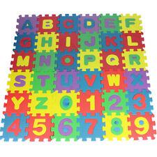 36Pcs Alphabet Numbers Eva Floor Play Mat Baby Room Abc Foam Lot Us Stock