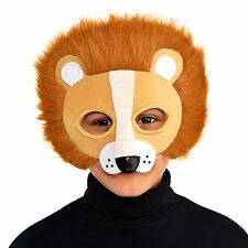 Kids Big Cat Lion Mask Safari Jungle King Fancy Dress Party Book Week Accessory