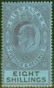 Gibraltar 1903 8s Matt Violett & schwarz-blau SG54 guter zustand & Frisch leicht