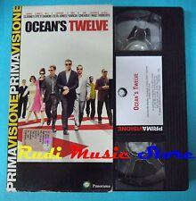 VHS film OCEAN'S TWELVE 2005 Clooney Pitt Damon Zeta-jones PANORAMA (F9*) no dvd