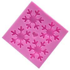 Christmas Crystal Snowflake Mold Silicone Fondant Baking Mould Cake 6N