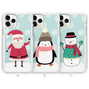 Father Christmas Xmas Snowman Phone Case For iPhone 13 Pro Max 12 11 XS XR 8 7