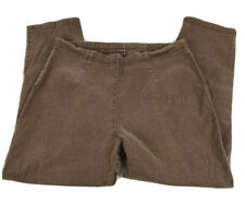 JMS Just My Size Womens Pants Pull On Pockets Brown Corduroy 2X 18W-20W Petite