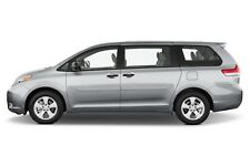 BODY SIDE Moldings, PAINTED With CHROME Trim Insert For: TOYOTA SIENNA 2011-2018