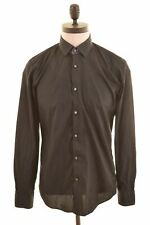 HUGO BOSS Mens Shirt Size 39 Medium Black Cotton Slim Fit  JD17