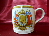 Antique Silver Jubilee MUG King George V Queen Mary 1910-1935 Royal Memorabilia
