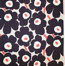 Marimekko fabric grey/grey/orange Pieni Unikko 145x50cm by Maija Isola