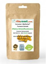 Curcuma + Bioperine® 500 Kapseln - Kurkuma VEGAN - Turmeric - No Tabletten