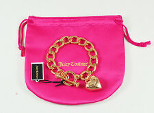 Juicy Couture BANNER PUFF HEART STARTER BRACELET Rose Gold Color