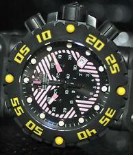 Invicta Men's 10043 Subaqua NITRO Diver Chronograph Black and Pink Dial Watch