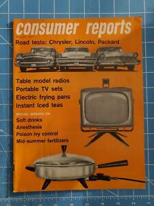 August 1956 Consumer Reports Reviews 1957 Luxury Cars Chrysler, Lincoln, Packard