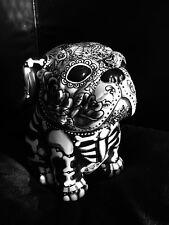 Day of the Dead  Sugar Skull Bull Dog Statue Cookie Jar Dia Los Muertos Pet Urn