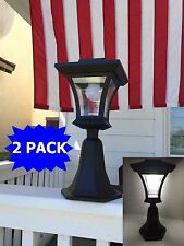2-Pack Bright LEDs Solar Powered Fence Gate Lamp Post Light Outdoor Garden Yard