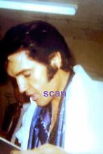 ELVIS PRESLEY WITH BLUE SCARF BACKSTAGE LAS VEGAS HILTON AUG 1969 PHOTO CANDID A