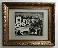 PABLO PICASSO AWESOME 1961 SIGNED TOREROS PRINT MATTED 11 X 14 + LIST