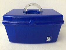 Caboodles Makeup Travel Case With Mirror Blue Glitter Sparkle Model 2720