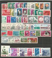 DDR   postfrisch  1961 kompletter Jahrgang mit 829Y geprüft