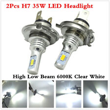 2Pcs H7 35W CREE LED Faros Bombilla Kit Alta Baja Beam 6000K Blanco Plug and Play