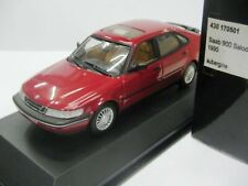 WOW EXTREMELY RARE Saab 900SE Turbo HB 1995 A Red 1:43 Minichamps-9/3-9/5-Spark