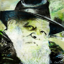 "REBBE - Original Artwork - 5,9"" X 5,9"" - Art Painting - Acrylic - Jewish"