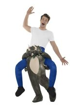 Piggyback Dinosaur Costume Mens Rideon Stag Do Halloween Fancy Dress Outfit