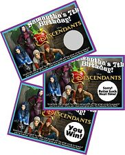 DISNEY DESCENDANTS SCRATCH OFF OFFS PARTY GAME GAMES CARDS BIRTHDAY FAVORS