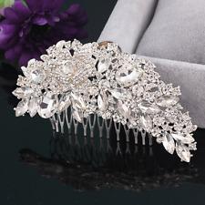 Vintage Women Crystal Rhinestone Hair Comb Clip Wedding Bridal Party Accessory